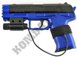 XK11503 MK23 Airsoft BB Gun 2 Tone Black and Blue with Laser